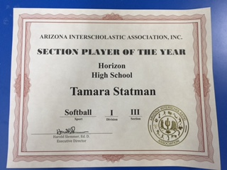 Section Player of the Year
